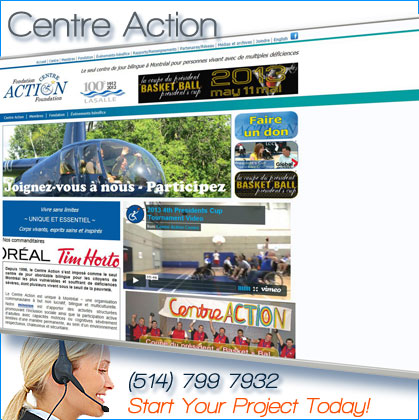 website design for centre action